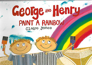 George And Henry Paint A Rainbow